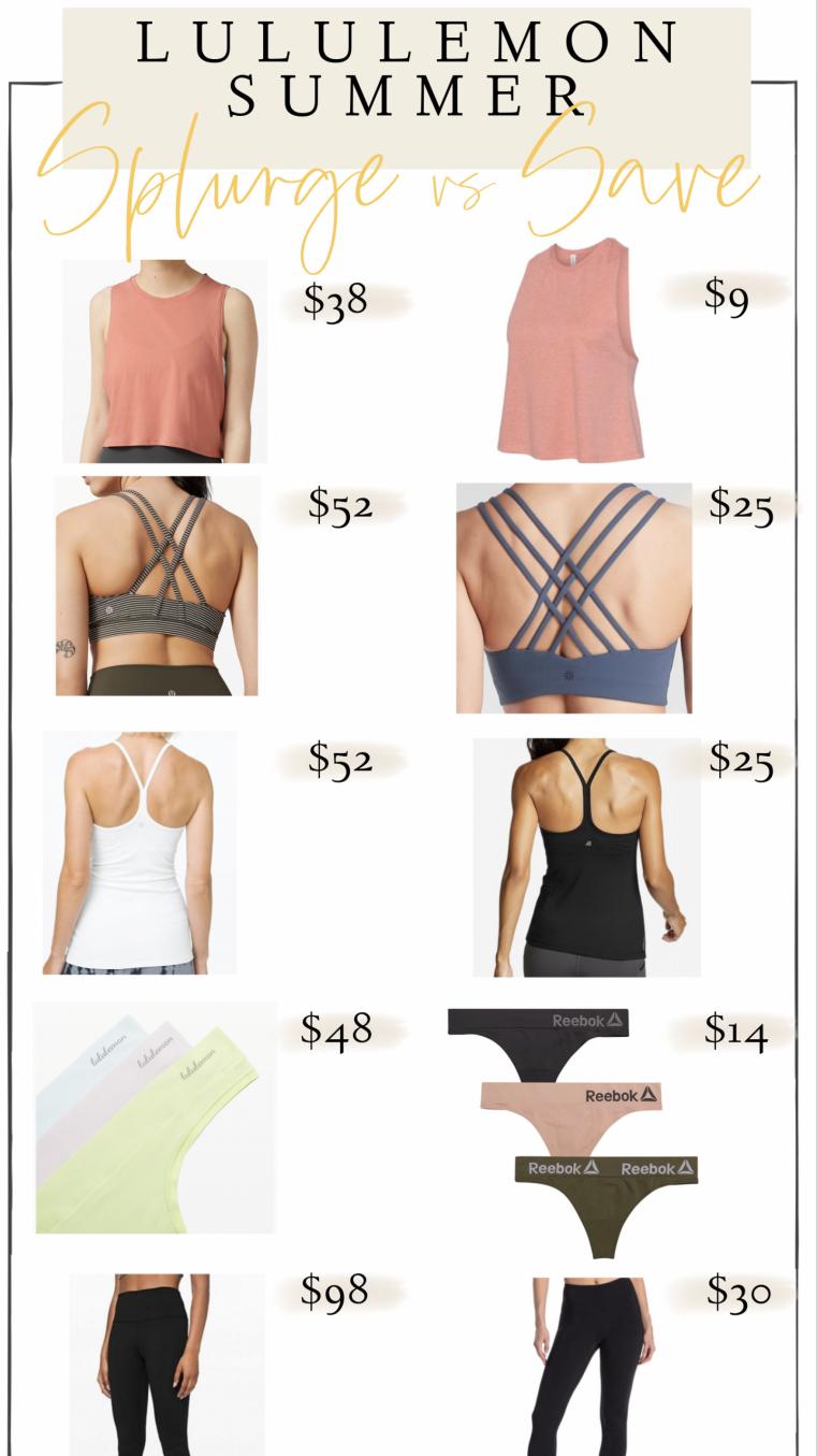 Lululemon lookalike sports bras on Amazon