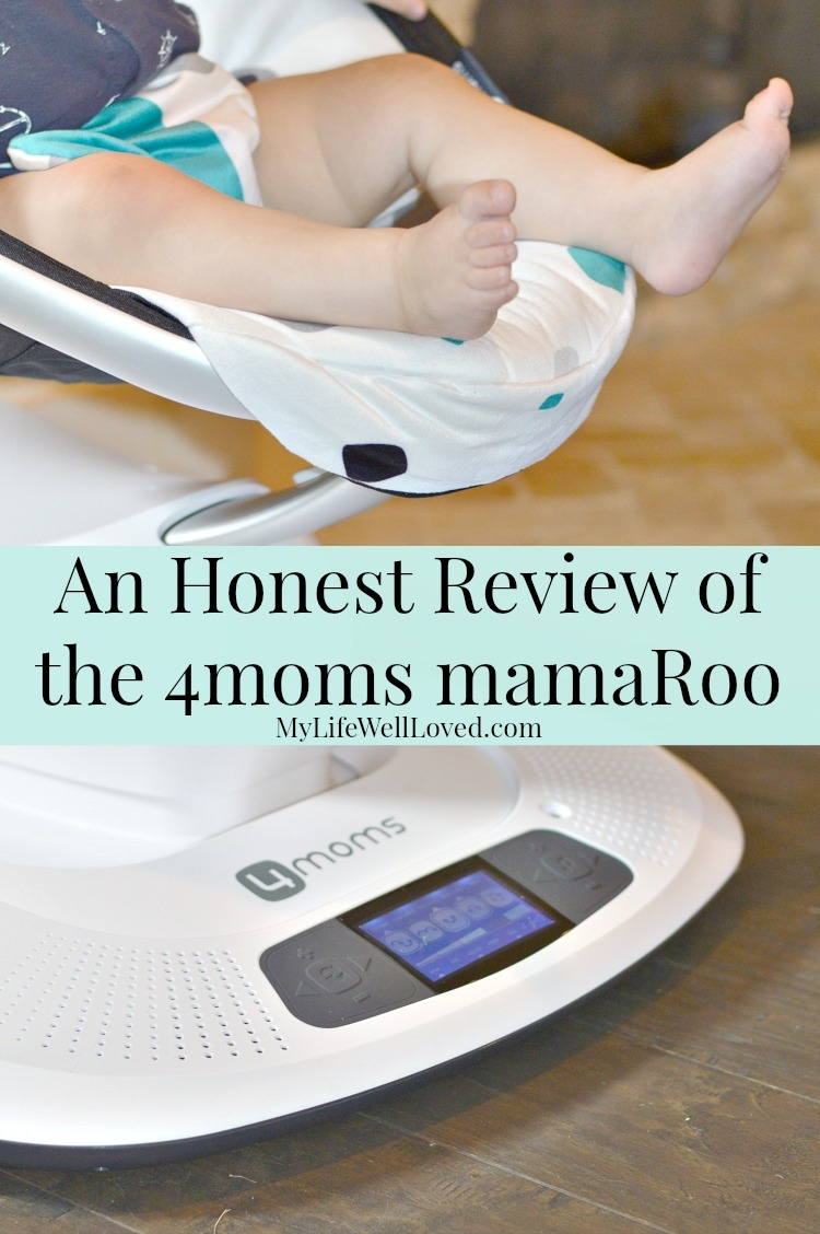 My Life Well Loved: 4moms mamaroo swing review. Baby boy loves it...even later on in his first year, he loves the colored balls that hang above!