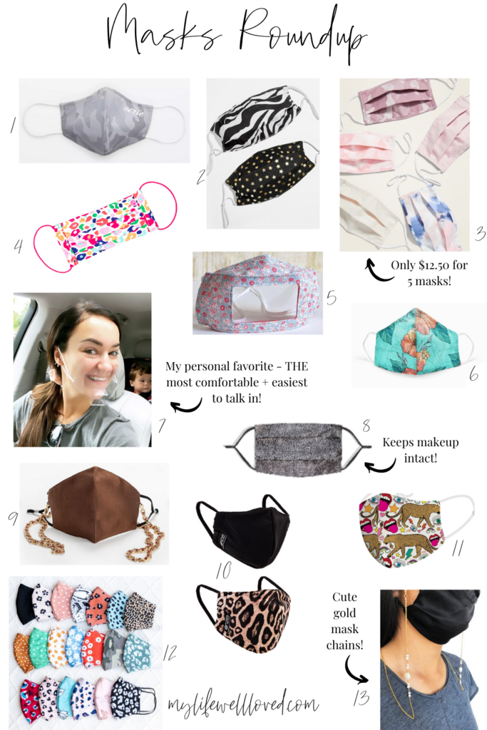 Cute Face Masks by Alabama Family + Style blogger, Heather Brown // My Life Well Loved