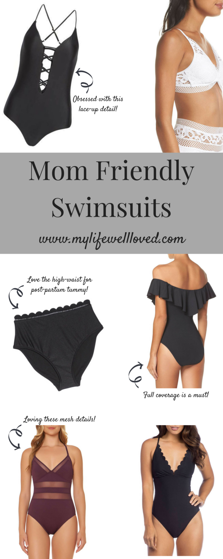 Best Mom Friendly Swimsuits with Alabama healthy lifestyle blogger Heather of MyLifewellloved.com // #summer #swimsuits #fashion #momlife #pregnancy