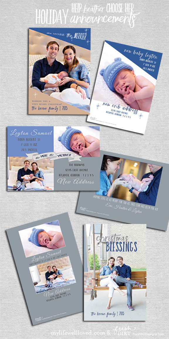 Christmas Card and birth announcement ideas