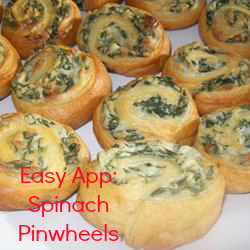 Spinach Pinwheels Appetizer from Alabama blogger Heather of MyLifeWellLoved.com // spinach pinwheels recipe // Spinach and cheese appetizer // crescent rolls appetizer recipe