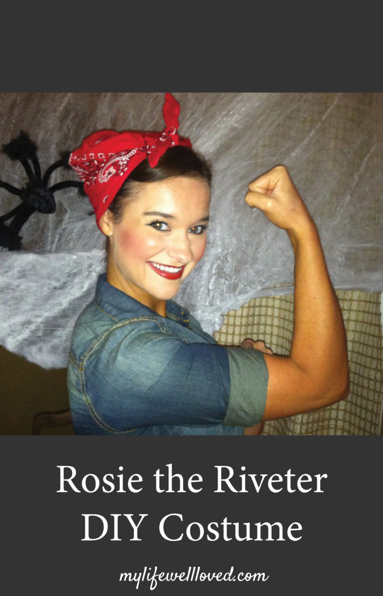Rosie The Riveter Costume Halloween My Life Well Loved