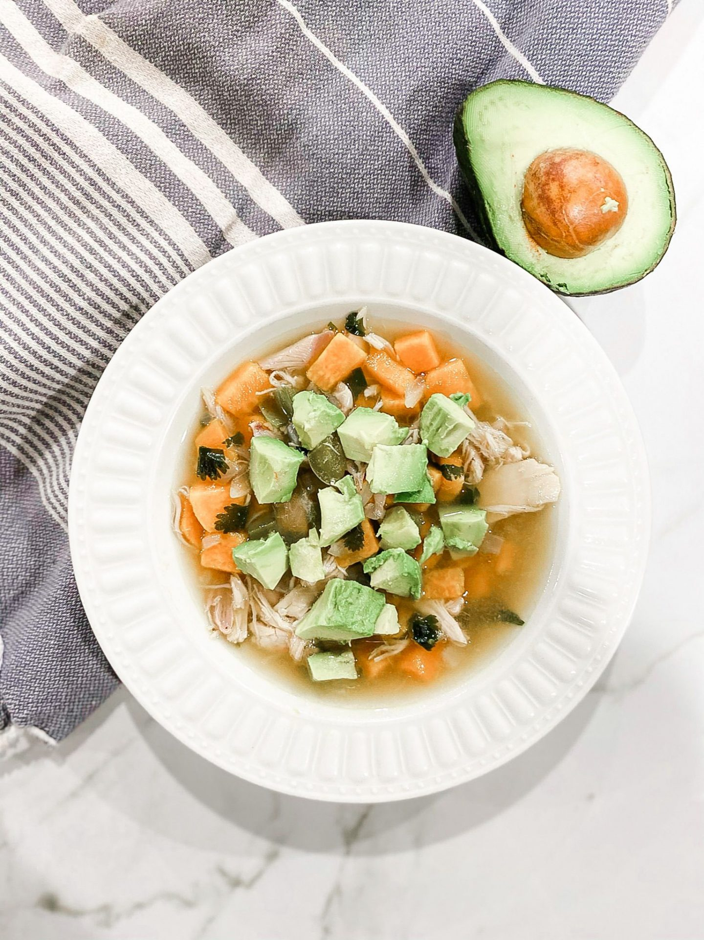 Whole30 White Chicken Chili Recipe (Paleo) by Alabama Food + Health blogger, Heather Brown // My Life Well Loved