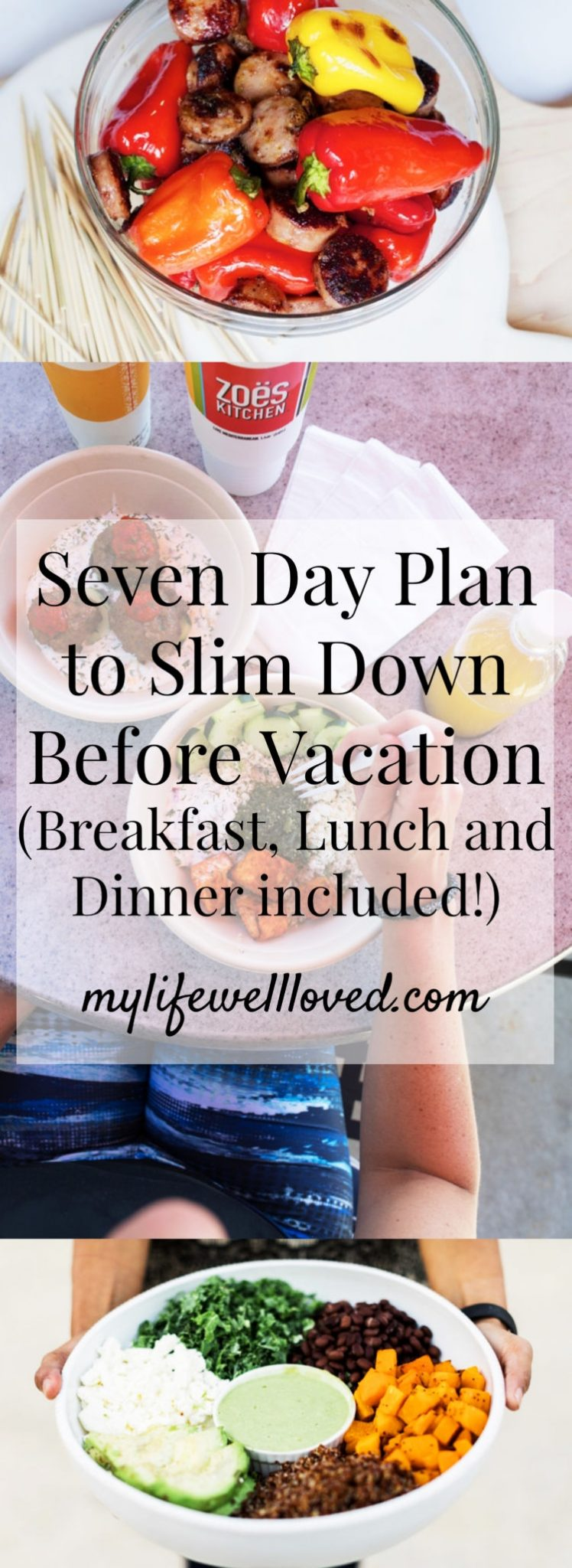 What to Eat Before Vacation Healthy Meal Plan from Heather Brown of MyLifeWellLoved.com // pinterest graphic