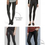 8+ Spanx Faux Leather Leggings Dupes You'll Find On Amazon + Other Retailers