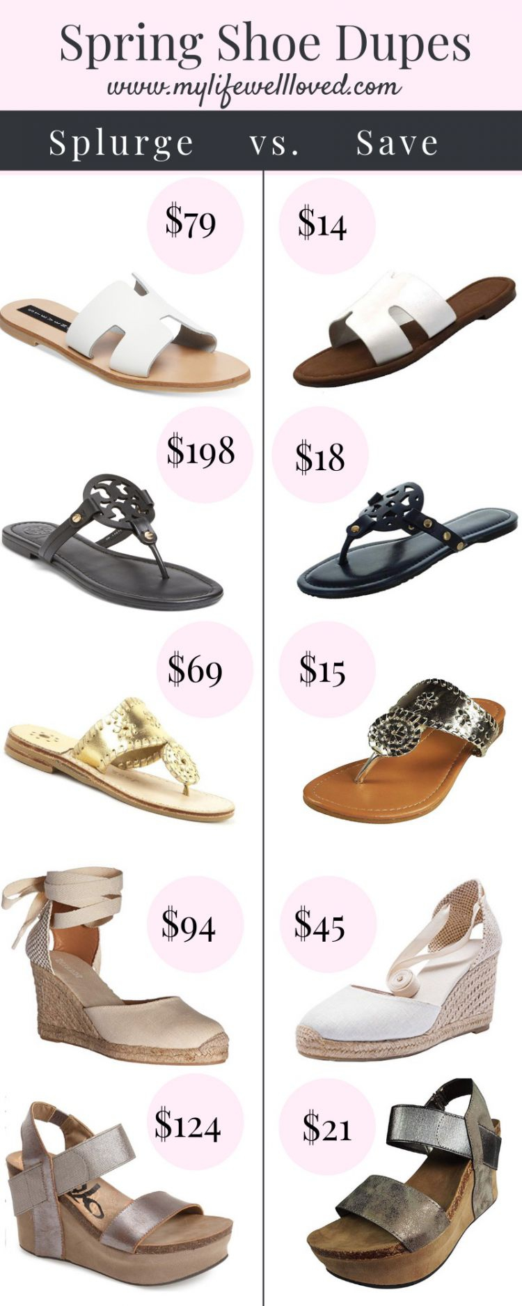 51033a8b0 Sharing the best Spring shoe dupes by Alabama lifestyle + fashion blogger  My Life Well Loved