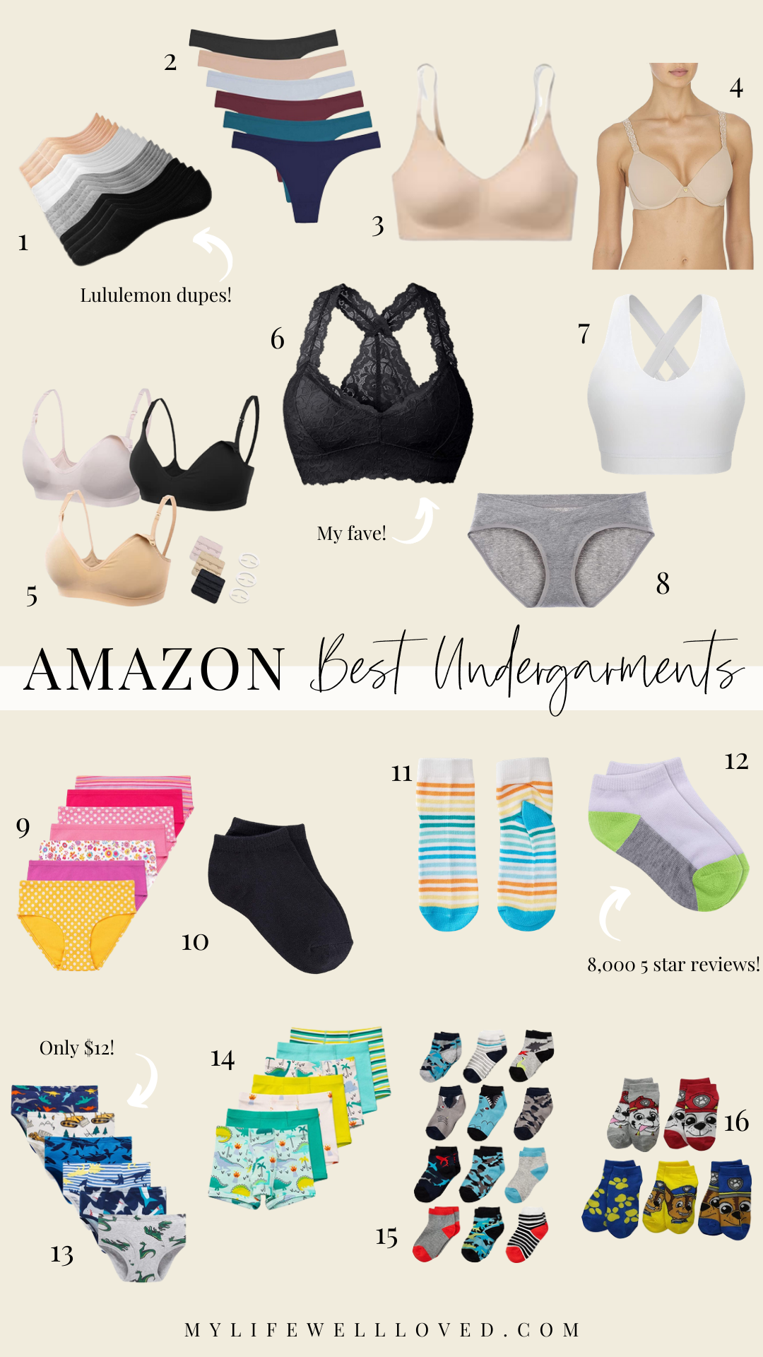 Amazon best undergarments for women